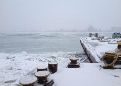 December on the Detroit River