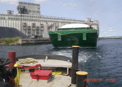 Grain barge tow