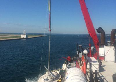 Sailboat salvage