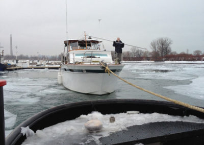 Winter tow with the M.R. Kane